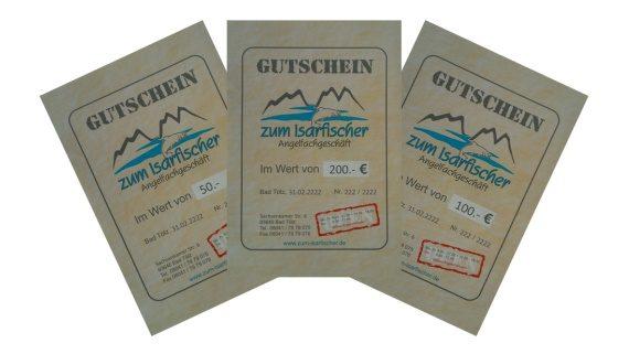 Geschenkgutscheine für Angler und Fischer sind eine schöne Geschenkidee für Angler. Sie sind auf der Suche nach einem Geschenk für einen Angler? Gutscheine und Geschenkideen für Angler bekommen Sie im Angelgeschäft - Angelladen - Angelshop - Angelsportgeschäft - Angelfachgeschäft. Alles für das Fischen und Angeln in Bayern - Oberbayern! Fliegenfischer, Schleppangler, Raubfischangler, Karpfenangler, Welsangler finden ein entsprechendes Angebot an Angelprodukten, Kunstköder, Gummifische, Blinker, fertige Hegene, Karpfenköder. Angelkescher, Bienenmaden, Regenwürmer.